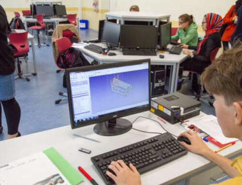 Hölty-Schüler in Celle formen Lego (Cellesche Zeitung am 15.09.2017)