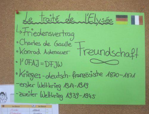 Bericht zum Élysée-Projekt im Französischunterricht
