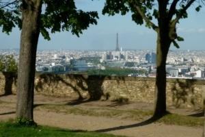 Blick von Meudon auf Paris