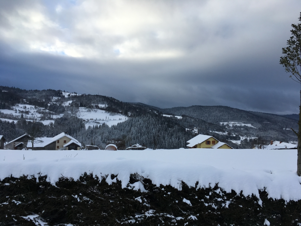 Die Umgebung von Le Tholy im Winter