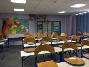 Der Unterrichtsraum für das Fach Deutsch