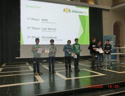 Gold und Silber für unsere Hölty-Schüler beim Greenfield-Roboterwettbewerb 2020