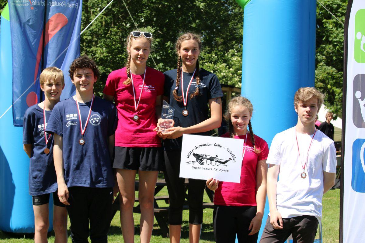 Triathlon-Team holt dritten Platz bei Landesentscheid (Bilder)