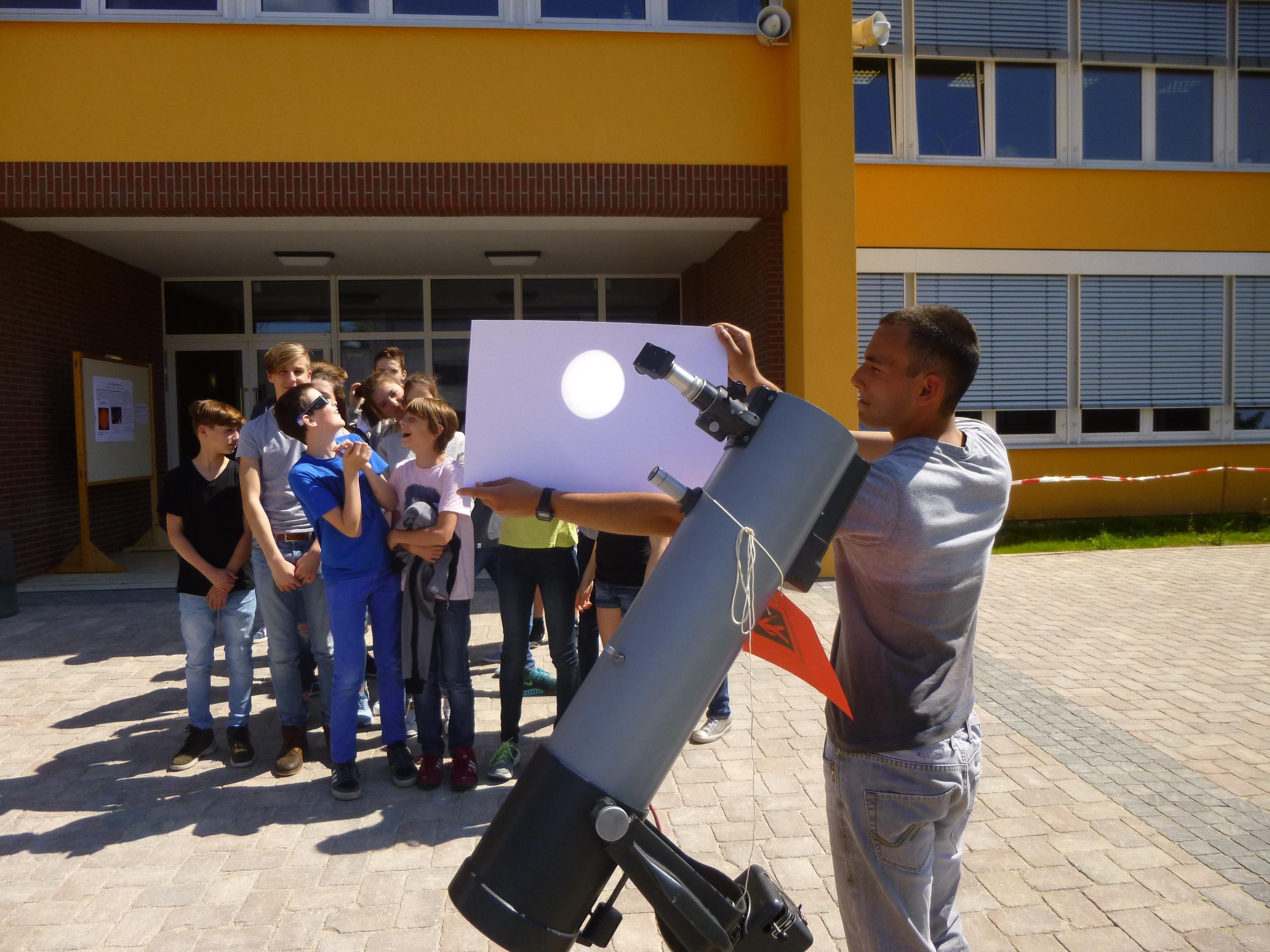 Minisonnenfinsternis: Merkurtransit am Hölty-Gymnasium