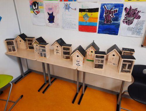 Nistkästen und Insektenhotels für den Schulhof – Deutschunterricht zum Anfassen