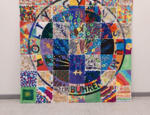 Schülerinnen und Schüler in Hambühren arbeiten kreativ am Hölty-Schullogo