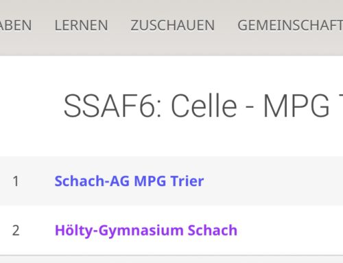 Deutscher Schachpokal: Achtelfinale für das Hölty Endstation